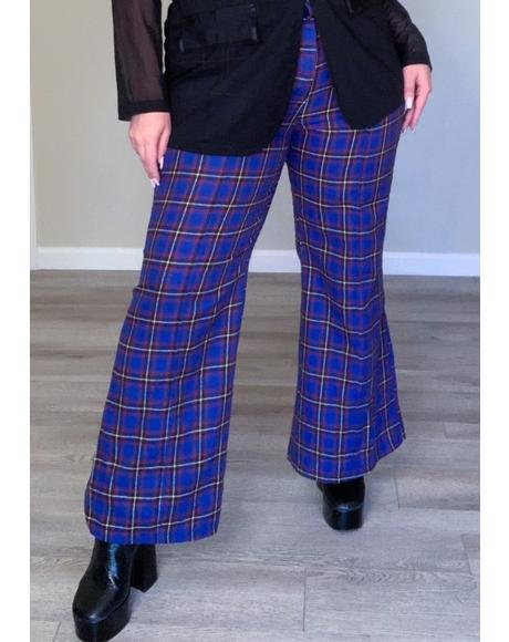 Deep Stay On Repeat Plaid Pants