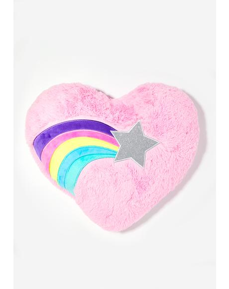 Luckiest Star Heart Pillow