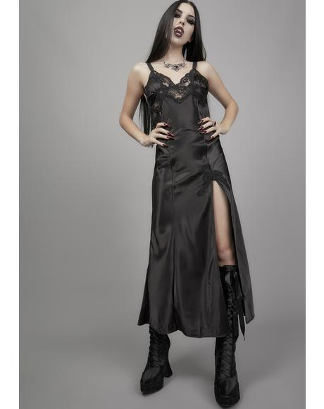 Immortal Ever After Satin Slip Dress