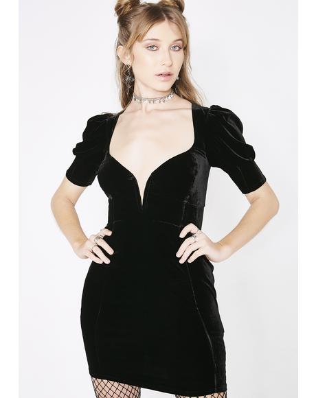 Viva Deep V Mini Dress
