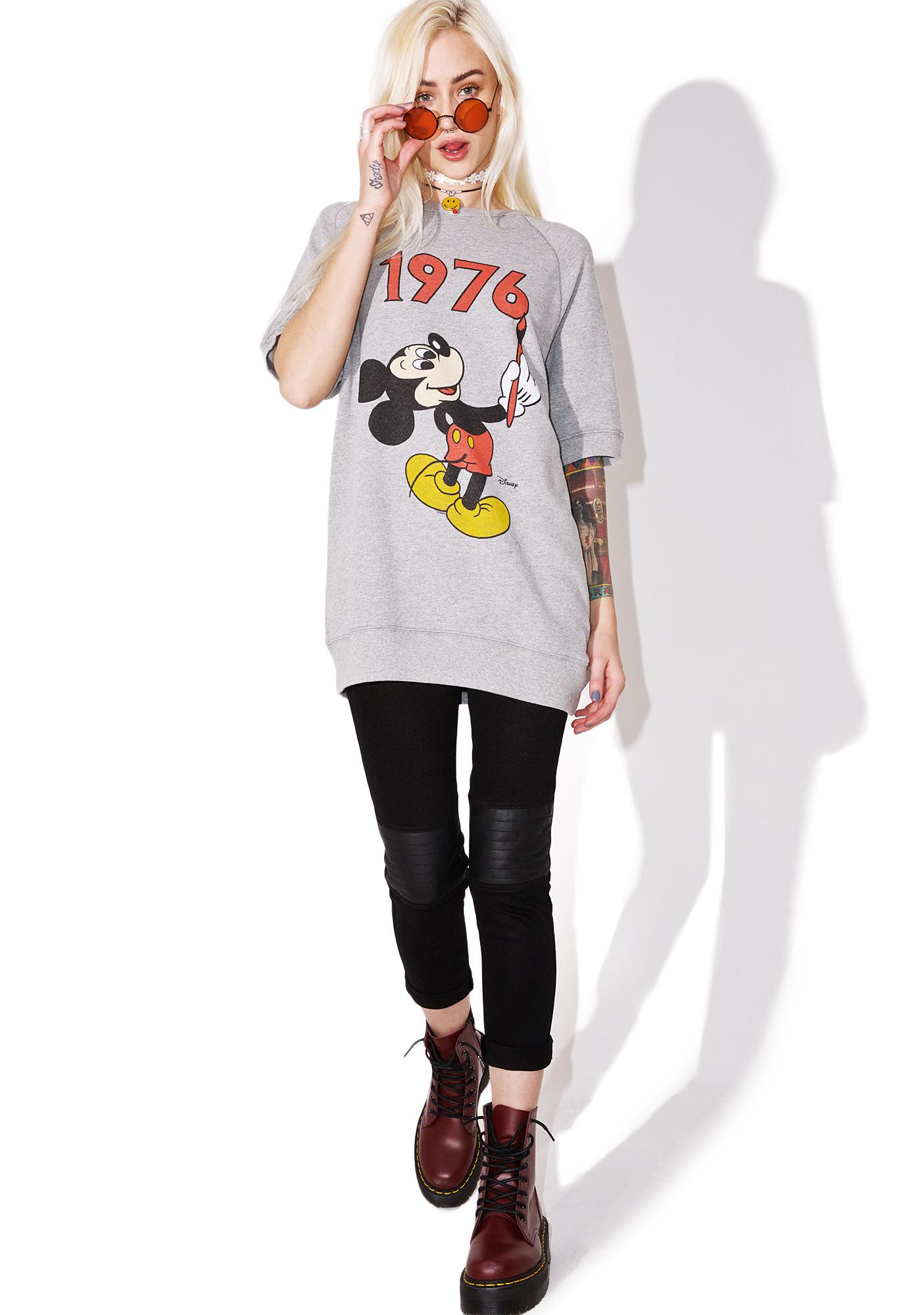 Junk Food Clothing Mickey Raglan Sweatshirt