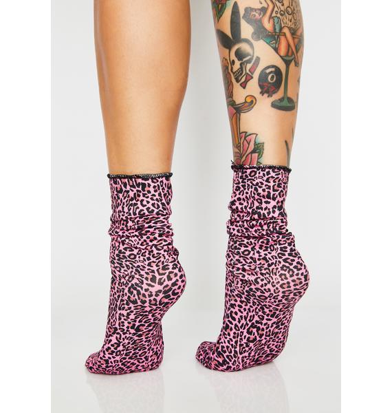 Sly Cat Crew Socks