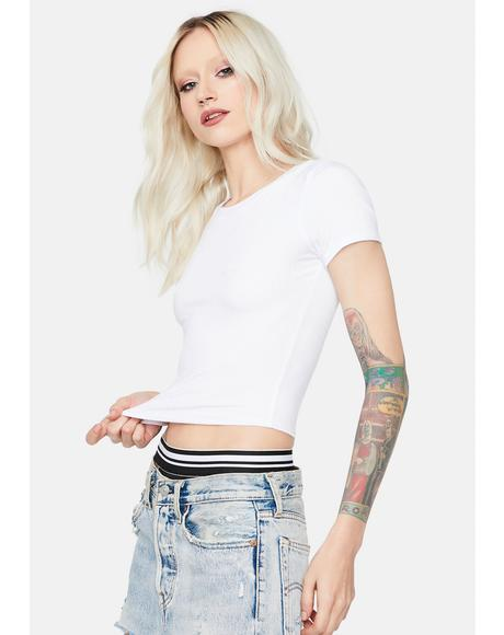 Pure Basic Bliss Ribbed Crop Tee