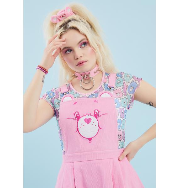 Dolls Kill x Care Bears Baby Care-A-Lot Pinafore Dress