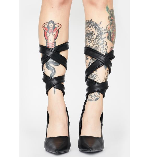 Throwing Shapes Lace Up Heels