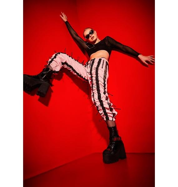 Poster Grl Love On The Line Bungee Cord Jogger Pants