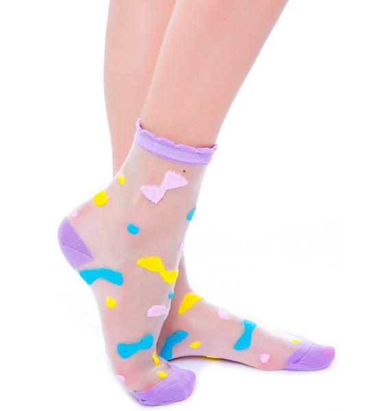 Tied With A Bow See Thru Sock