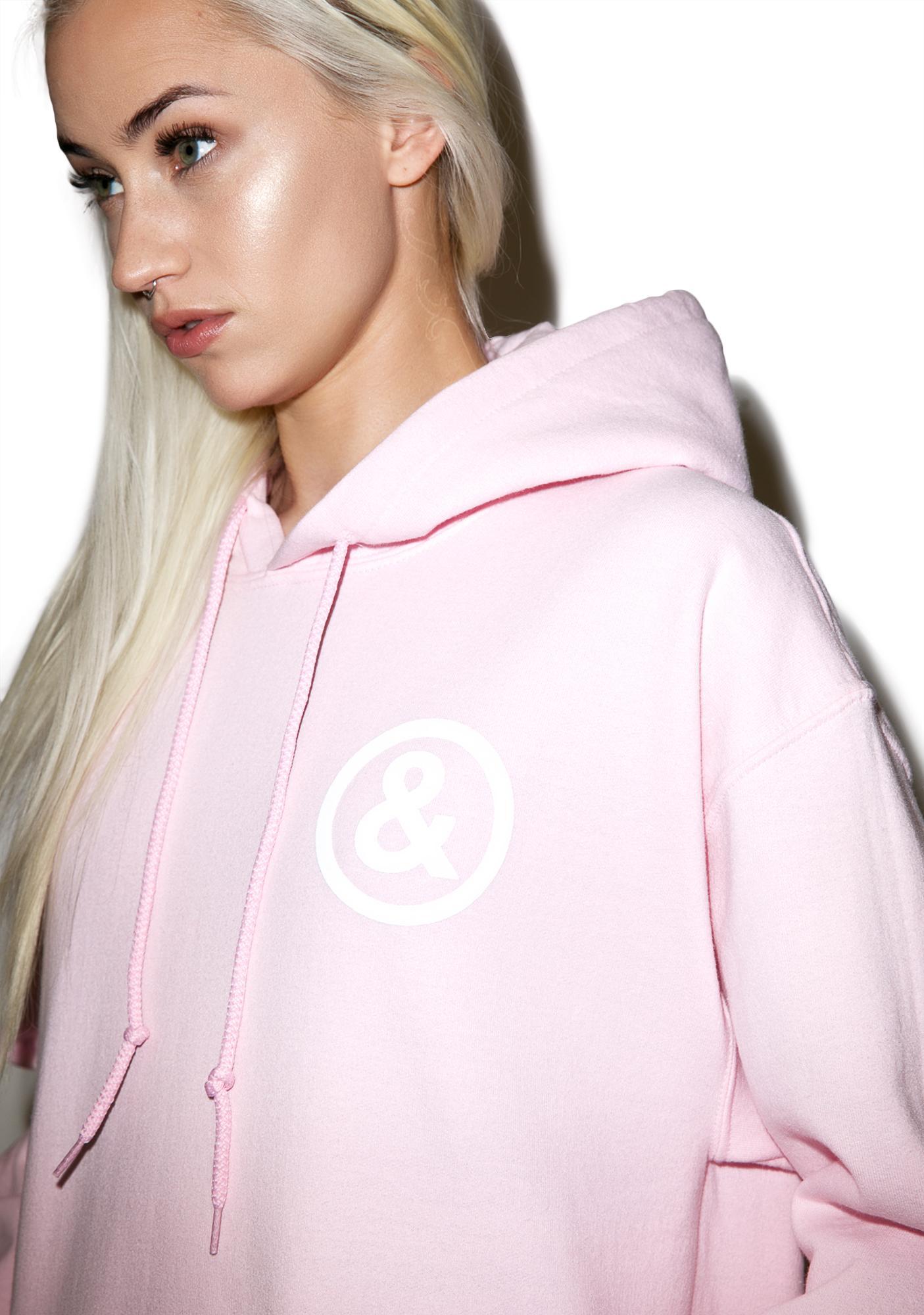 Untitled & Co Baby Pink Logo Hoodie