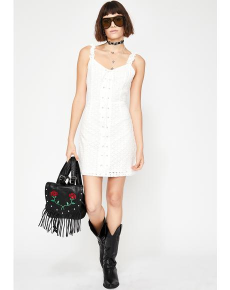 Divine Daze Lace-Up Dress