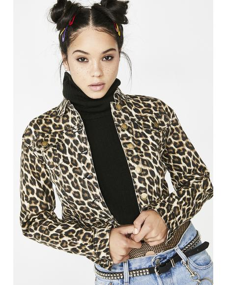 Feeling Catty Leopard Jacket