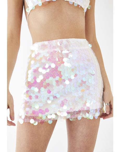 Sweet Bubble Blizzard Sequin Skirt