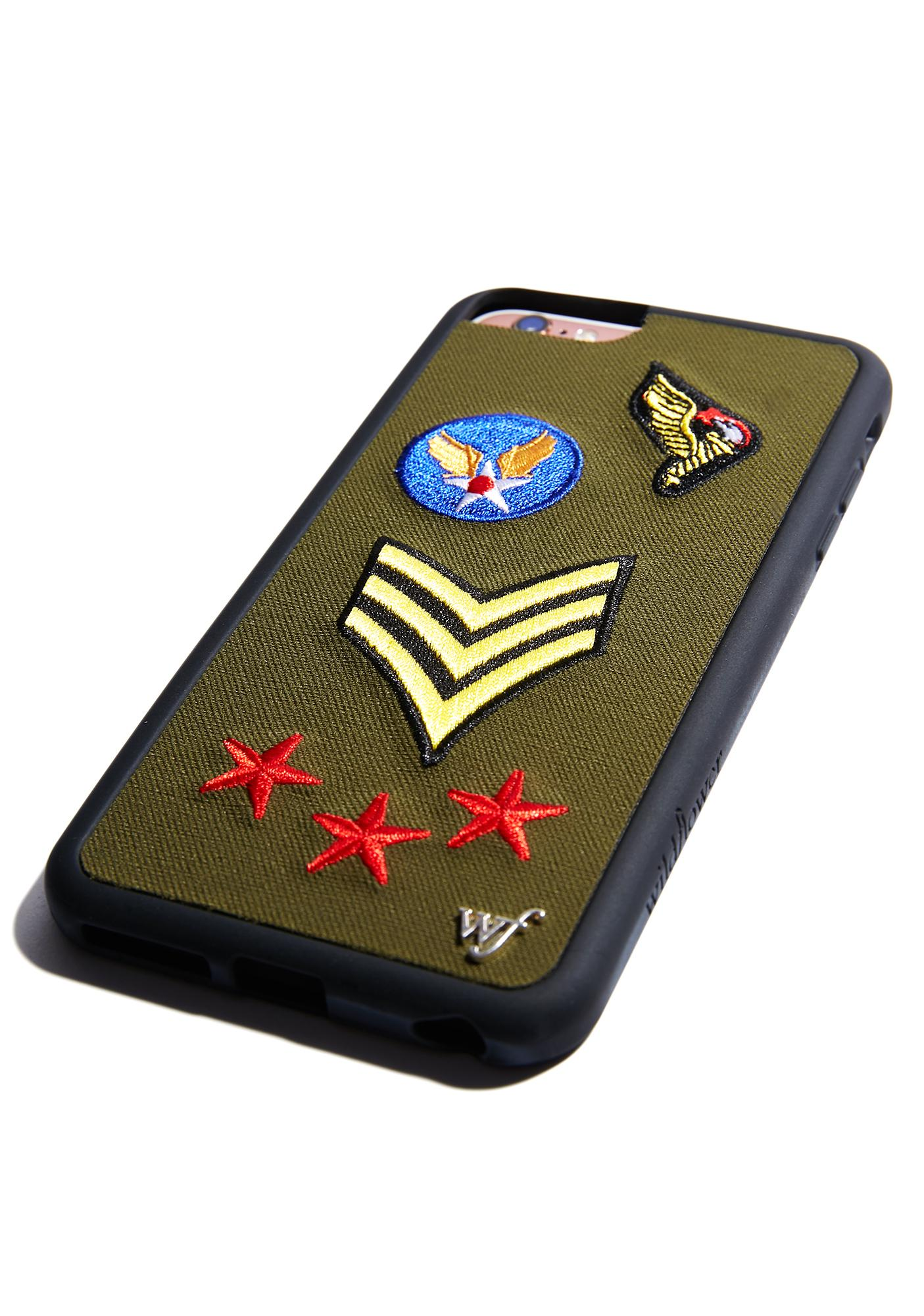 Wildflower Military Patches iPhone Case