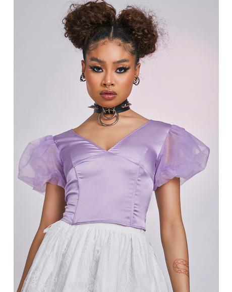 The Lavender Queen Elizabeth Puff Sleeve Corset