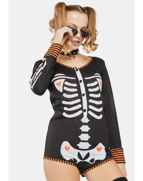 Skeletons O' Fun Halloween Lounge Romper