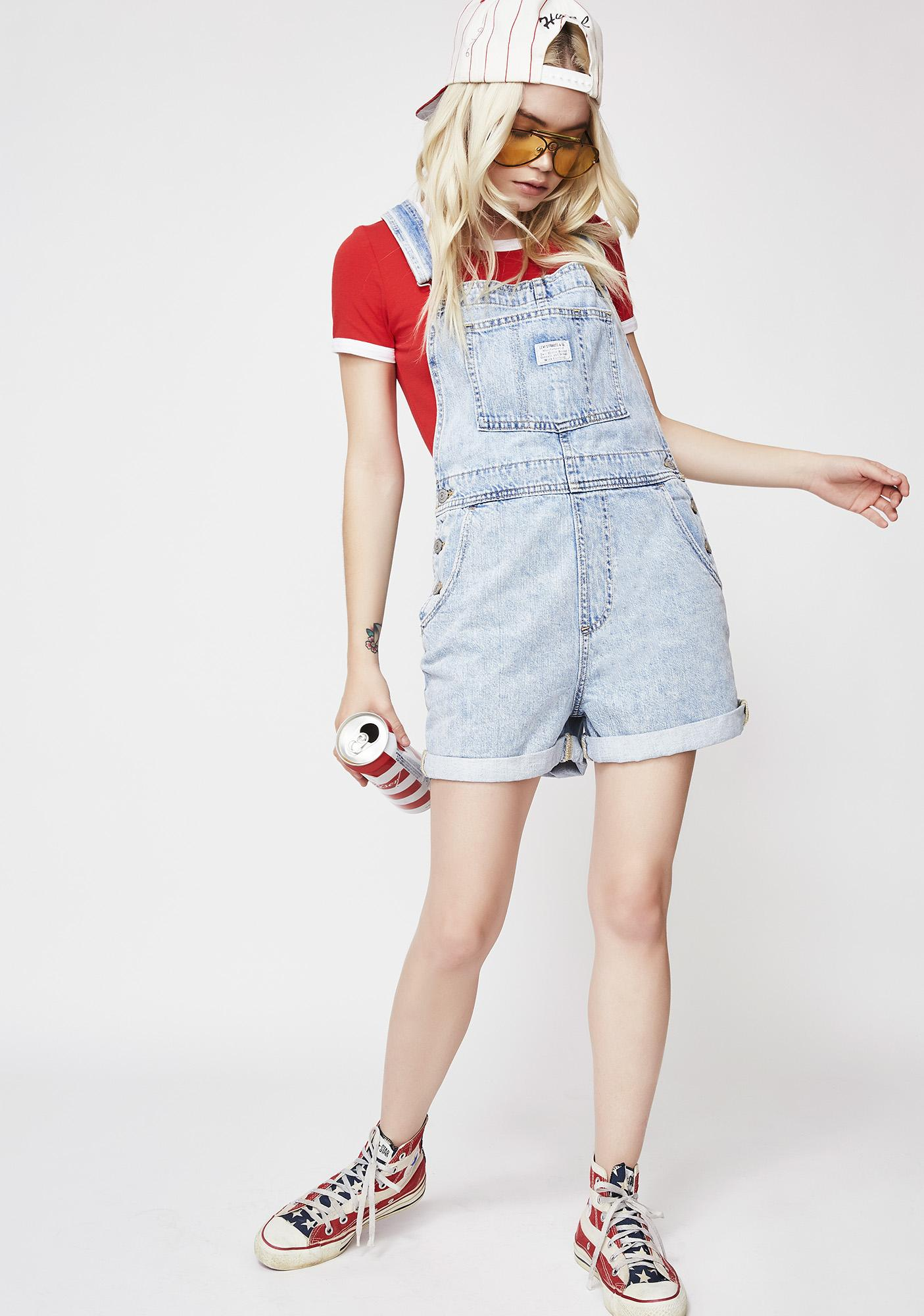 Levis Walk Away Vintage Shortalls