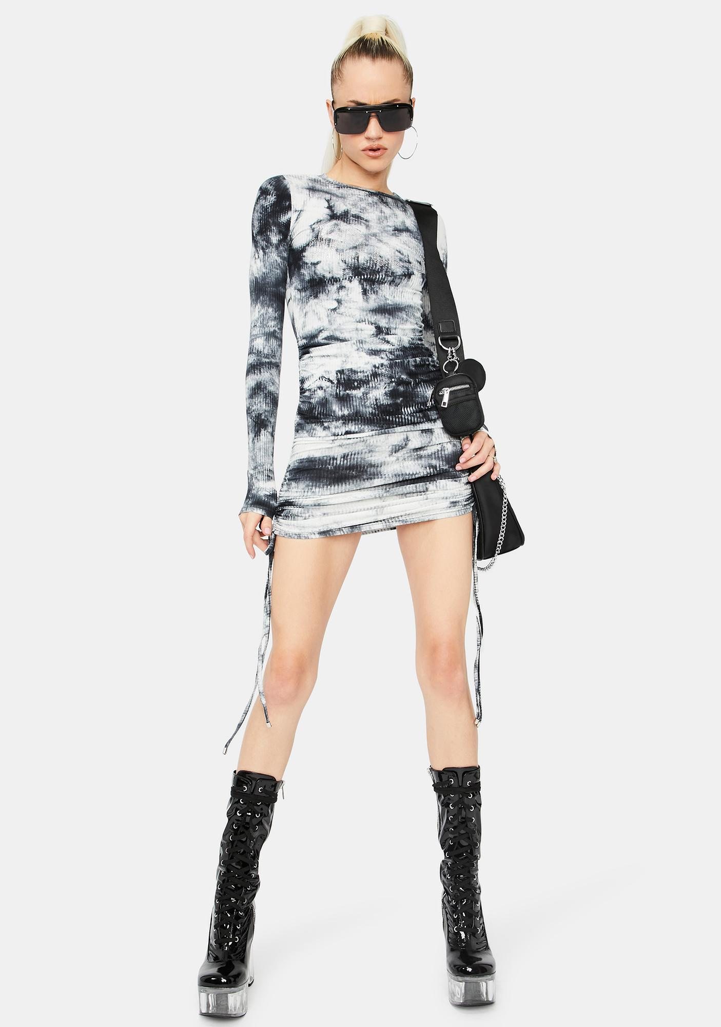 Slick Mind In the Clouds Bodycon Dress