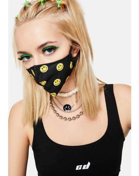 Ink Fake Smiles Face Mask