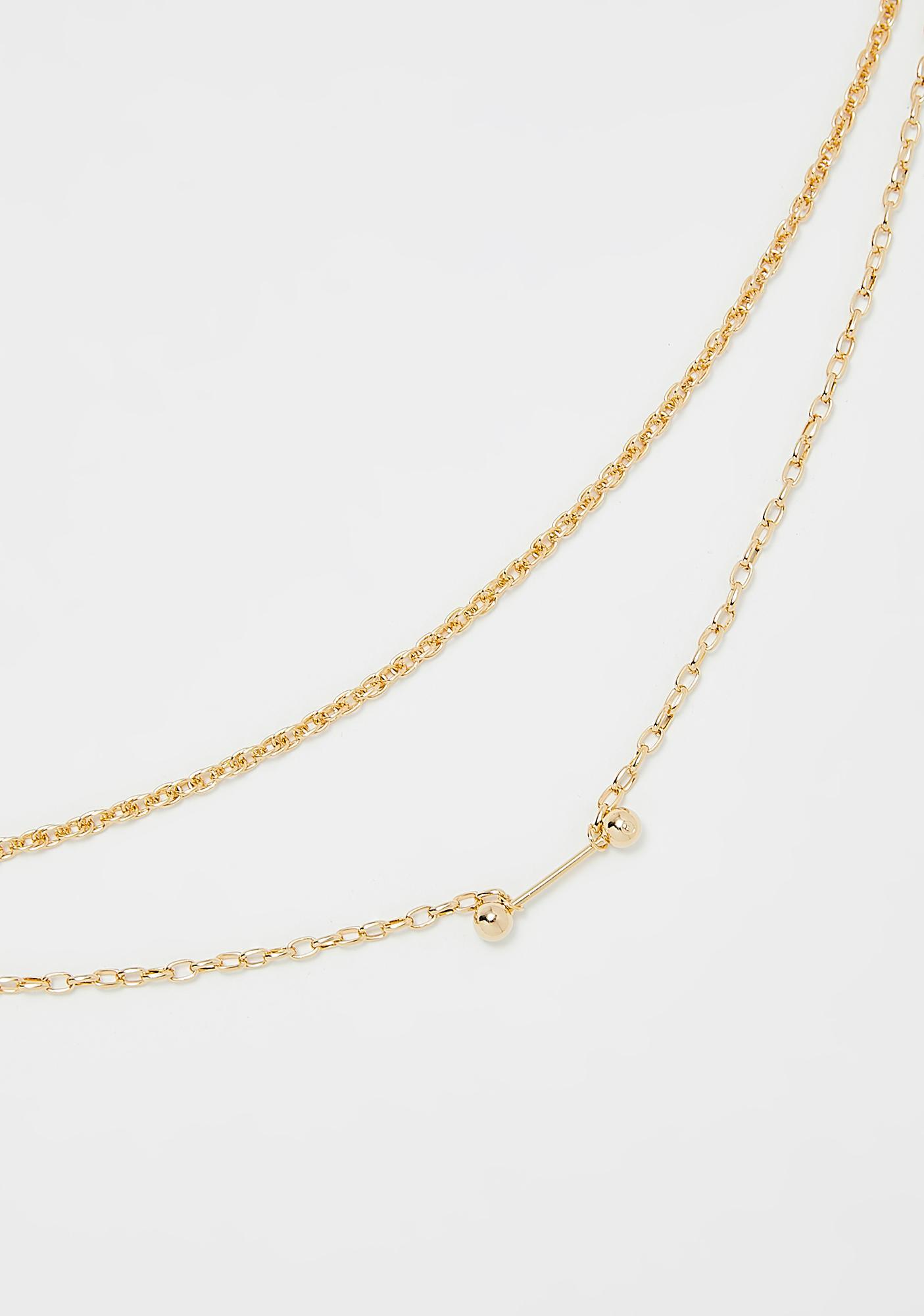 Raise The Bar Chain Necklace