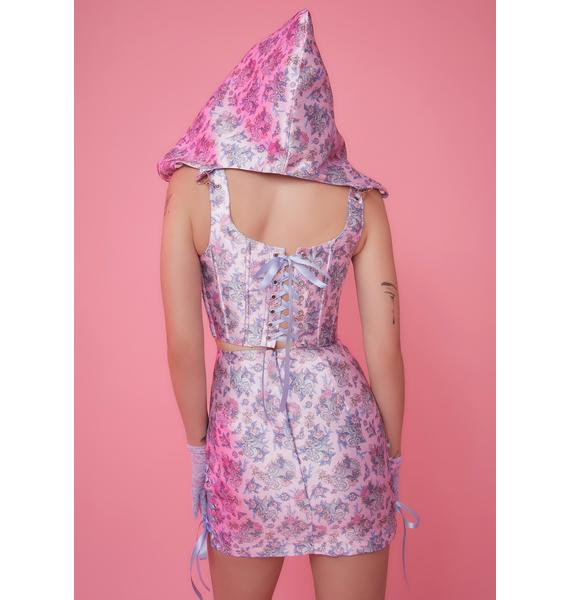 Sugar Thrillz Are We Human Dragon Print Mini Skirt