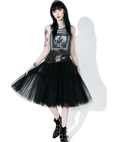 Raven Palatial Sheer Tulle Skirt