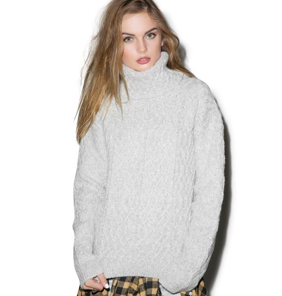 For Love & Lemons Snow Day Turtleneck Sweater