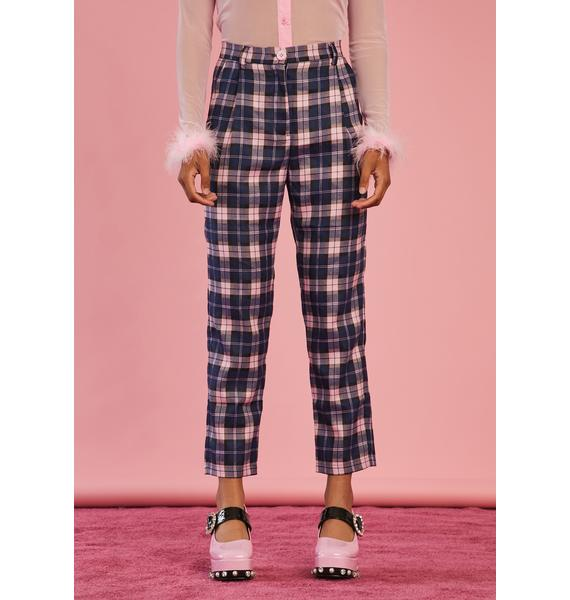 Sugar Thrillz Stories In My Mind Plaid Trousers