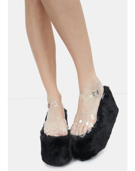 Black Zahara Platform Sandals