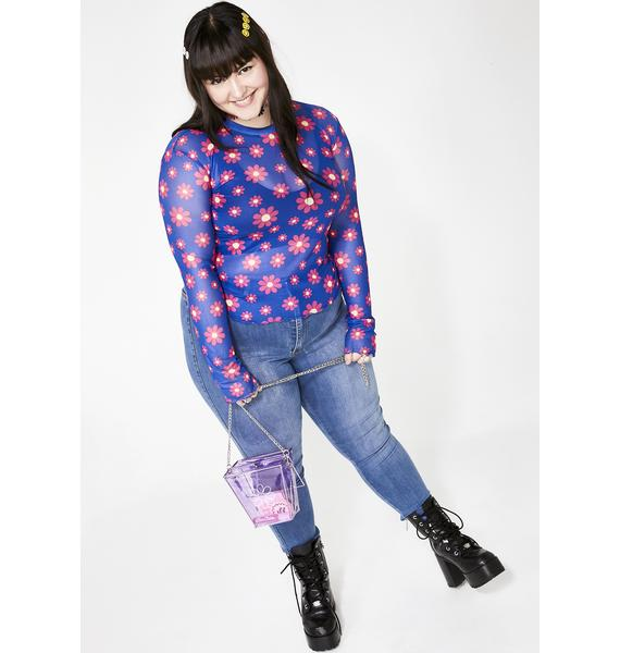 dELiA*s by Dolls Kill True Blue Forget Me Not Top