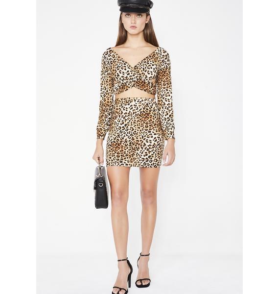 Slay On Sis Leopard Set