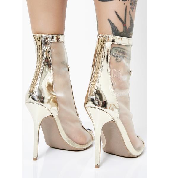 Feeling Myself Sheer Heels