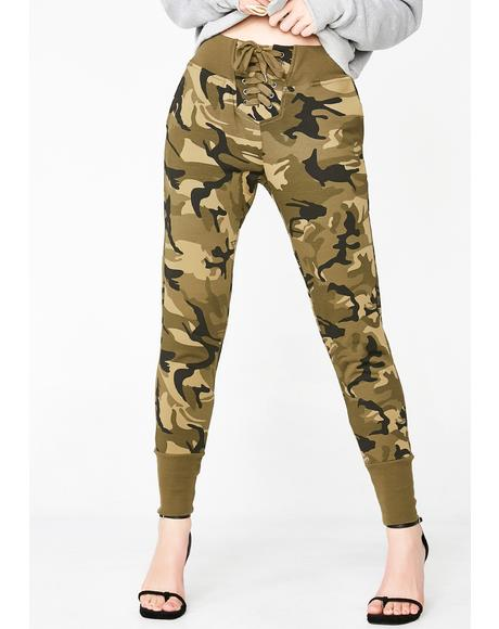 Back Woods Camo Sweatpants