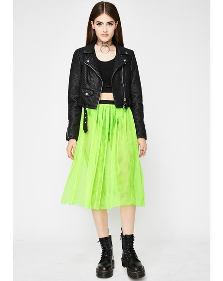 Slime Quiet Riot Tulle Skirt