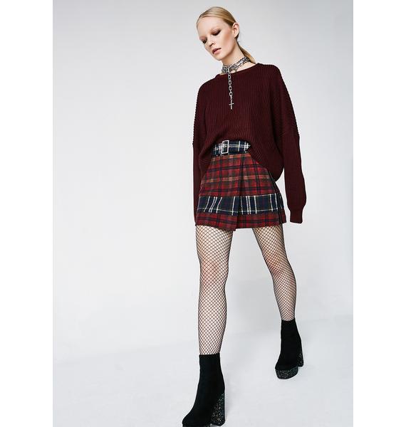 Class Act Plaid Skirt