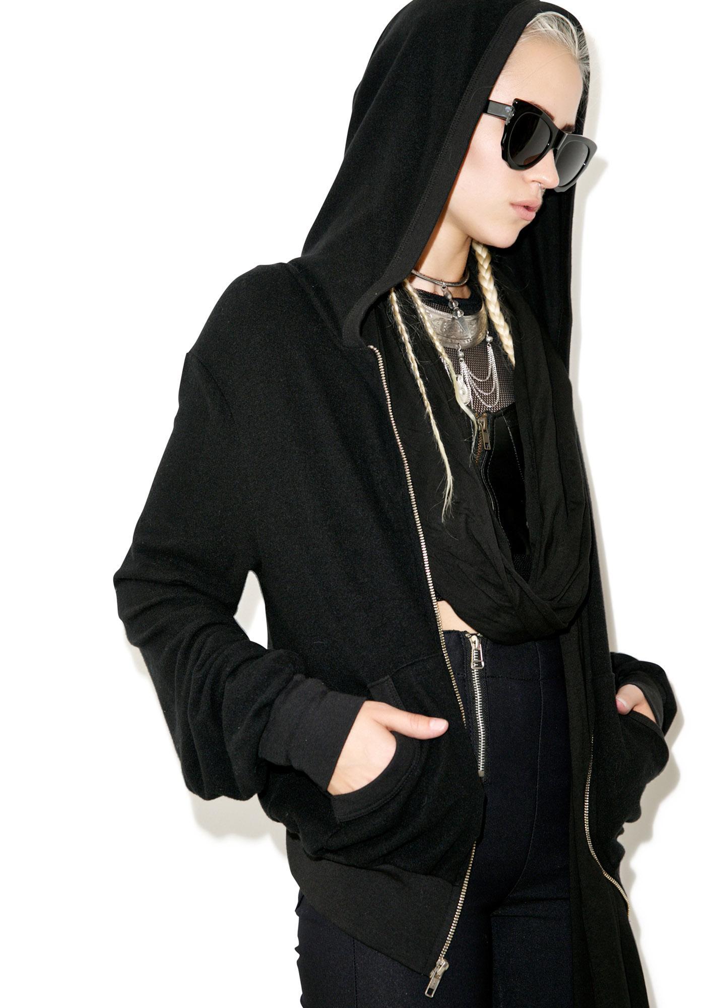 Wildfox Couture Coven Girl Malibu Zip Up Sweatshirt