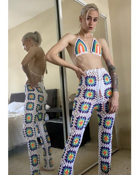Bohemian Dreamer Crochet Pant Set