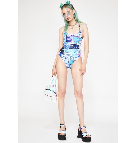 HOROSCOPEZ Cyber Splash One-Piece Swimsuit