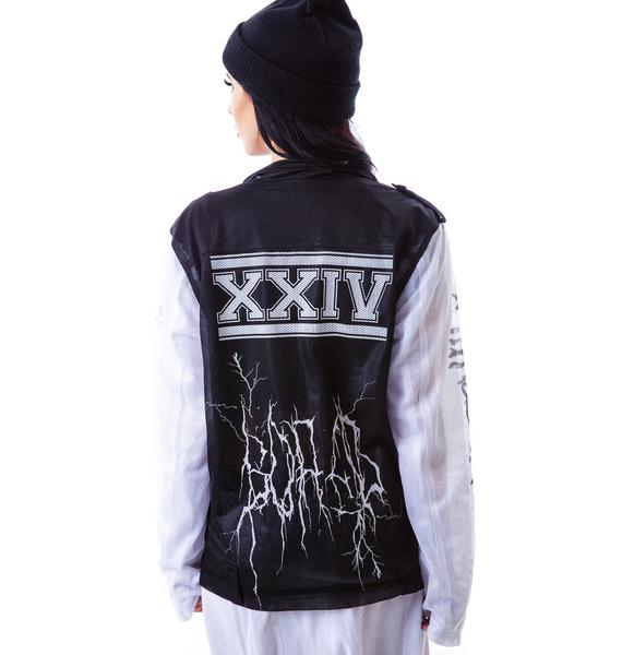 24HRS Mesh to Death Patched Moto Jacket