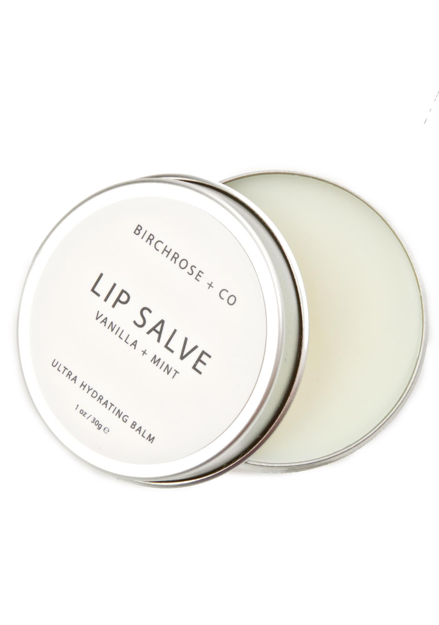 Birchrose + Co Vanilla + Mint Lip Salve