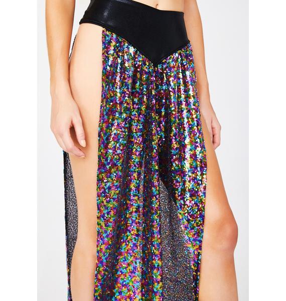 Star Reachin' Sequin Skirt