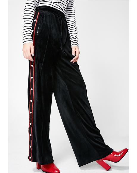 Sporty Stripe Popper Pants