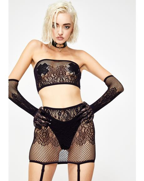 Prissy Punk Fishnet Set