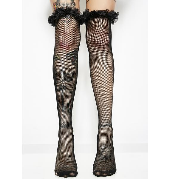 Goth Gal Fishnet Stockings