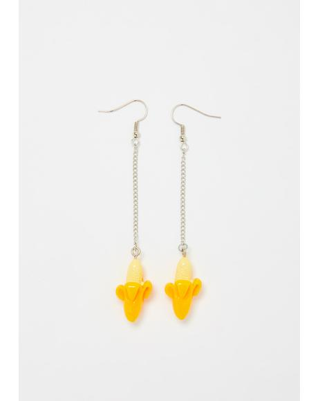 Peelin' Myself Banana Drop Earrings
