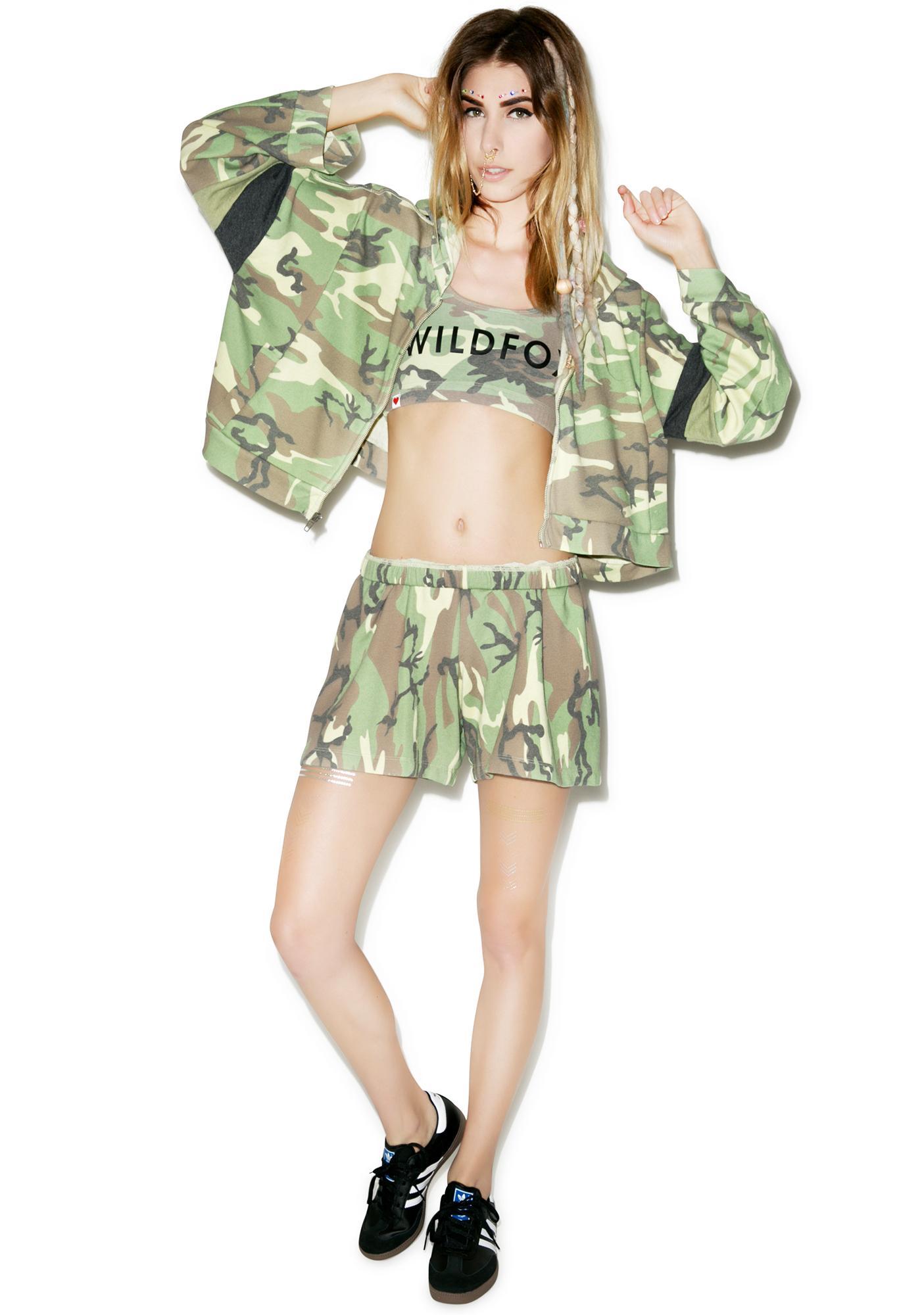 Wildfox Couture Classic Camo P.E. Shorts
