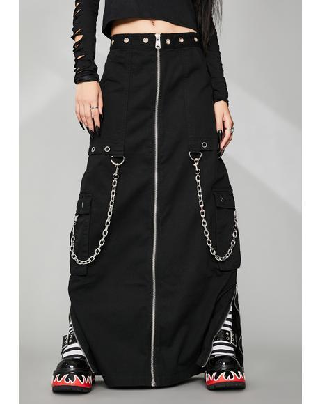 Cyber Vamp Maxi Skirt