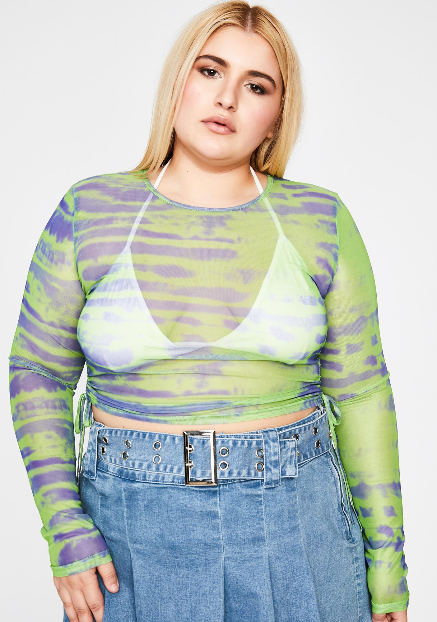Lime Total Tough Competition Ruched Top