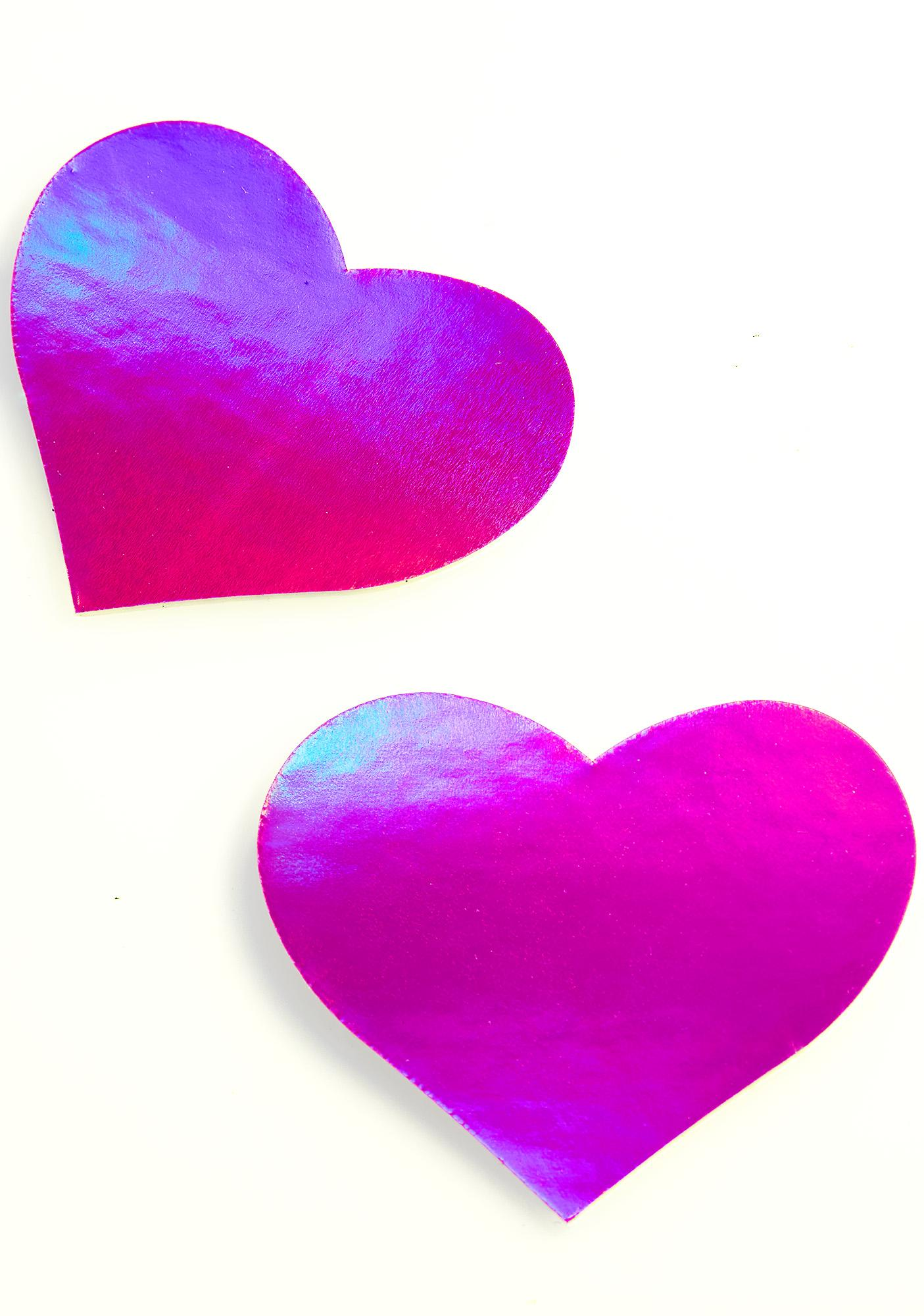 Pastease Pink Holographic Heart Pasties