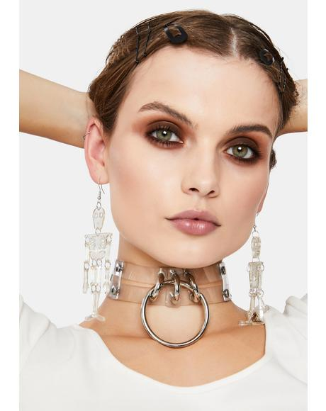 Skeleton in Hiding Drop Earrings
