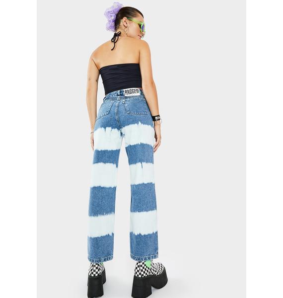 The Ragged Priest Lithium Striped Denim Jeans