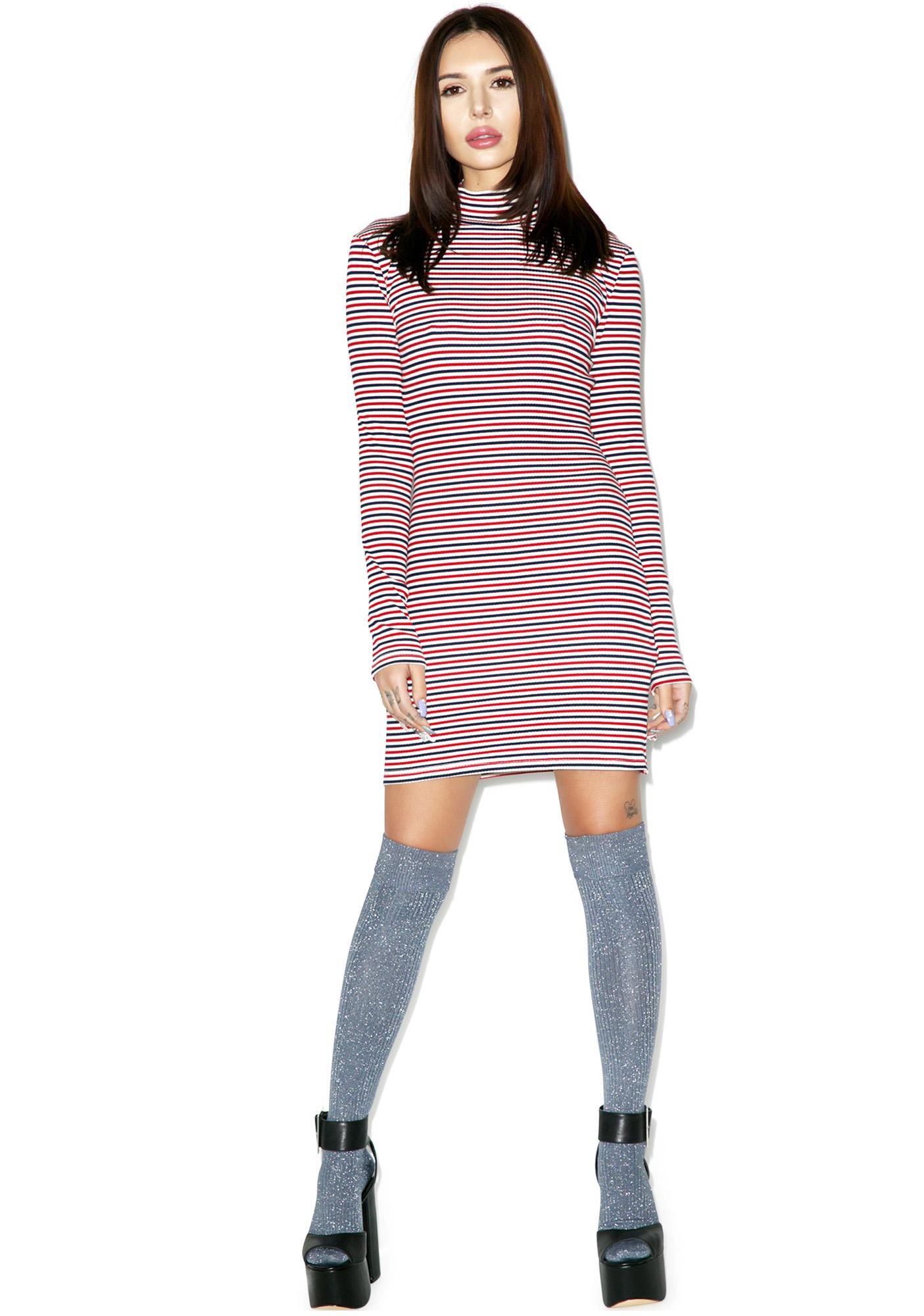 Mink Pink Stripe Skivy Dress